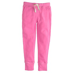 Girls' slim drawstring pant