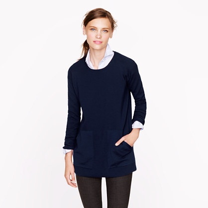 Merino pocket tunic