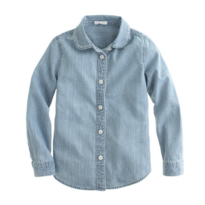 Girls' Wendy shirt in chambray