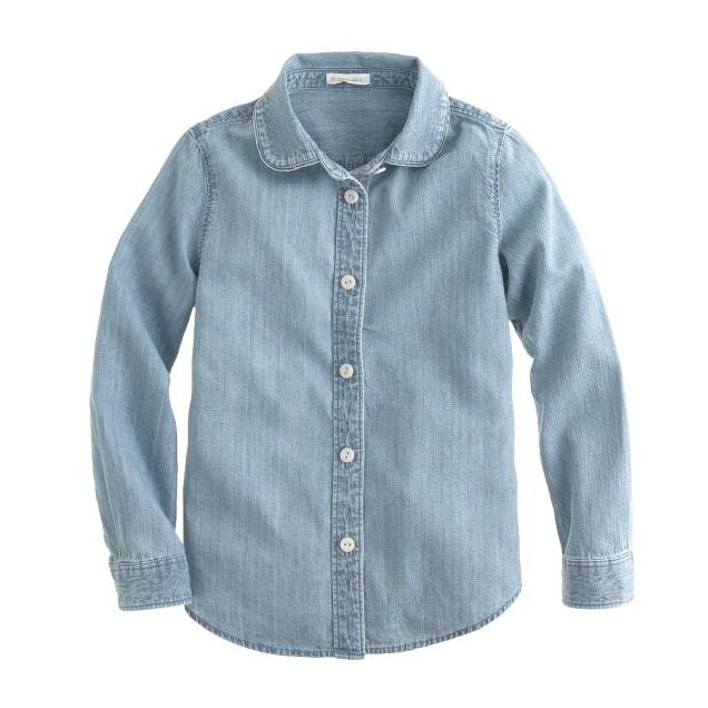 Girls' Wendy shirt in chambray