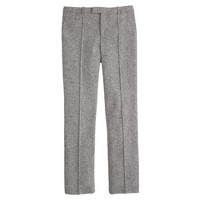 Petite cropped Donegal wool pant
