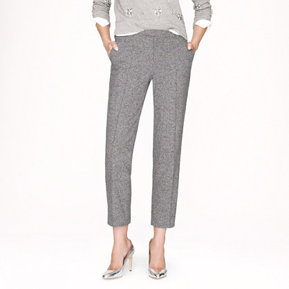 Cropped Donegal wool pant