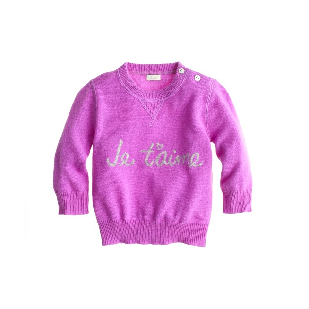 Cashmere je t'aime baby sweater