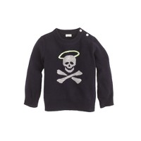 Baby cashmere sweater in halo skull