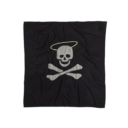 Cashmere baby blanket in halo-skull