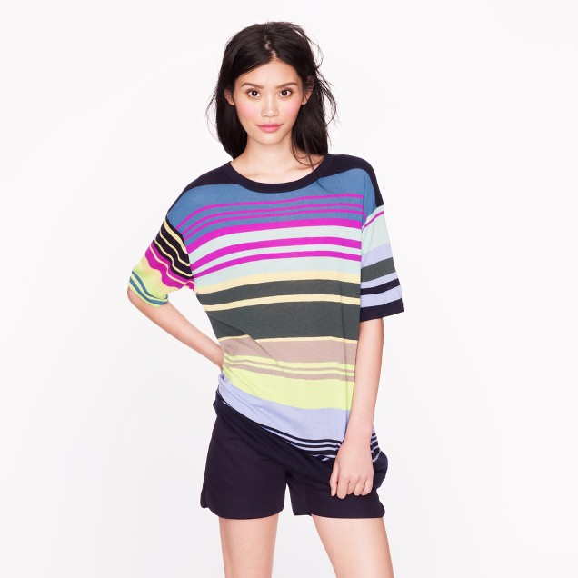 The Elder Statesman® for J.Crew cashmere ultra-stripe tee