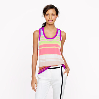 The Elder Statesman® for J.Crew cashmere ultra-stripe tank