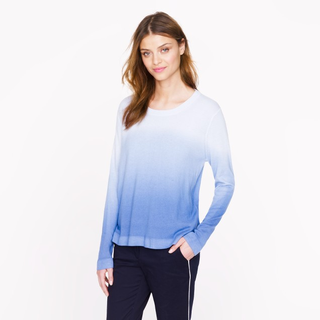 The Elder Statesman® for J.Crew blurred cashmere crewneck sweater