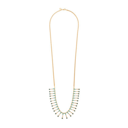 Seaside fringe necklace