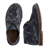 Kids' suede MacAlister boots in camo