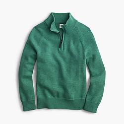 Boys' cotton-cashmere half-zip sweater