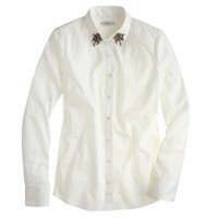 Jeweled point-collar shirt