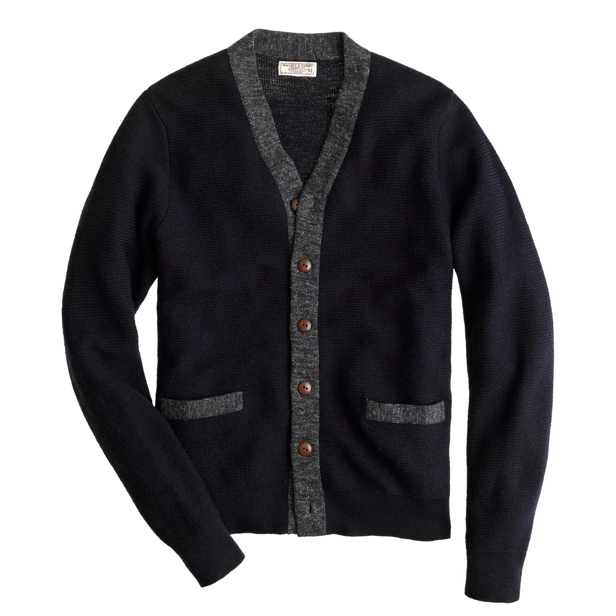 Wallace & Barnes Wool Contrast Cardigan :