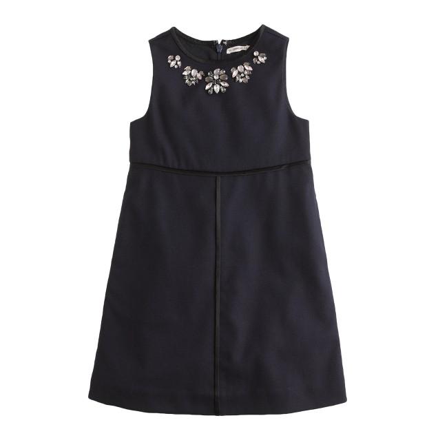 Girls' necklace shift dress