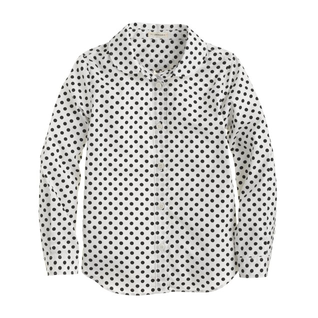 Girls' Wendy shirt in dot