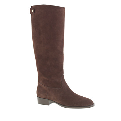 Suede field boots