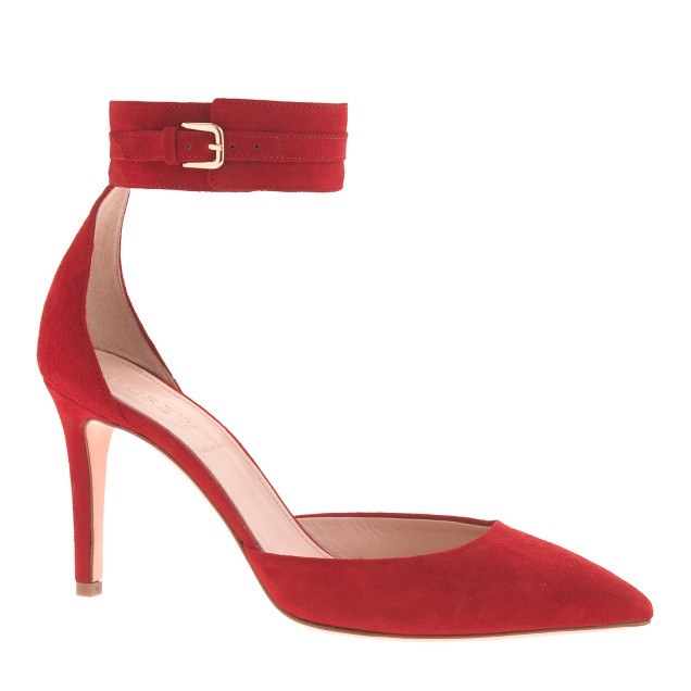 Quinn suede ankle-cuff pumps
