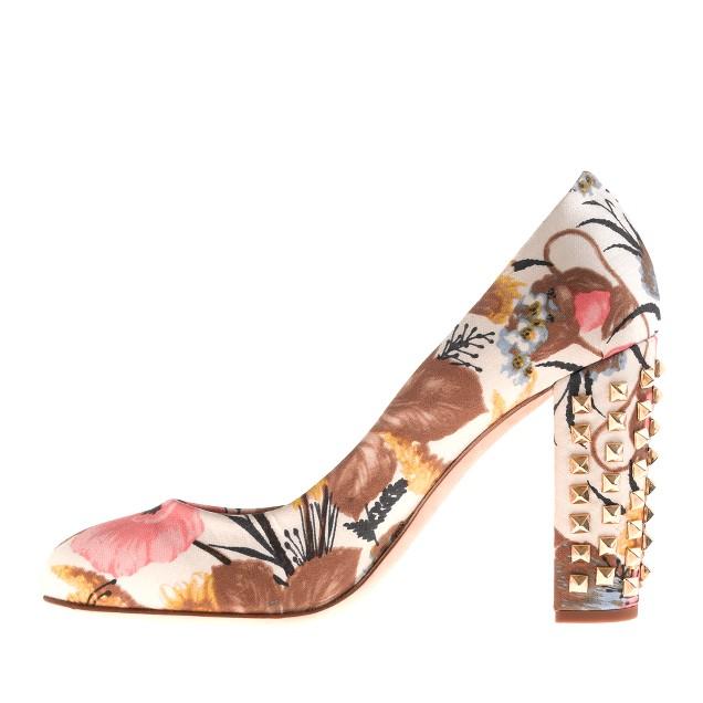 Etta studded-heel pumps