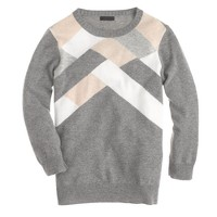 Collection cashmere abstract argyle sweater