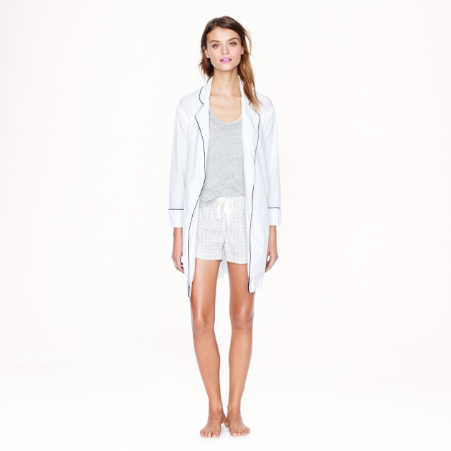 End-on-end cotton robe