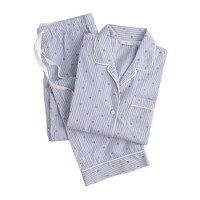 Vintage pajama set in dotted stripe