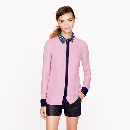 Removable-collar shirt
