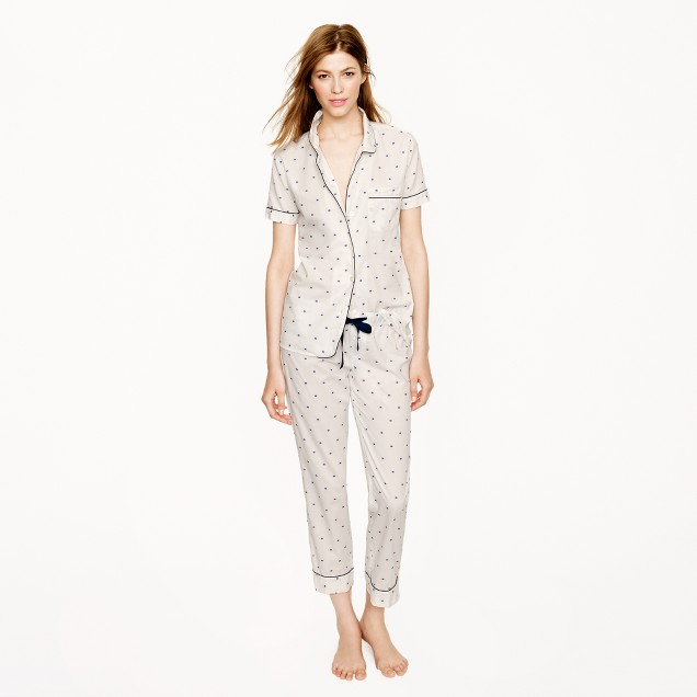 Vintage short-sleeve pajama set in split dot