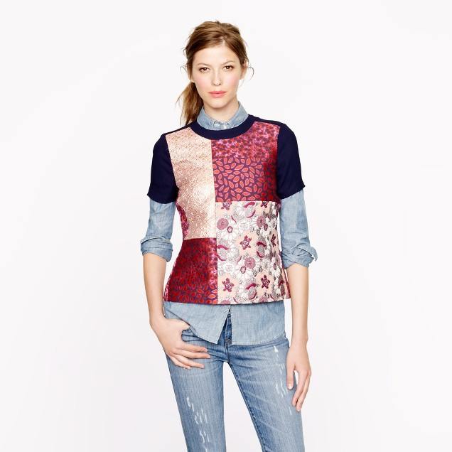 Collection patchwork jacquard top