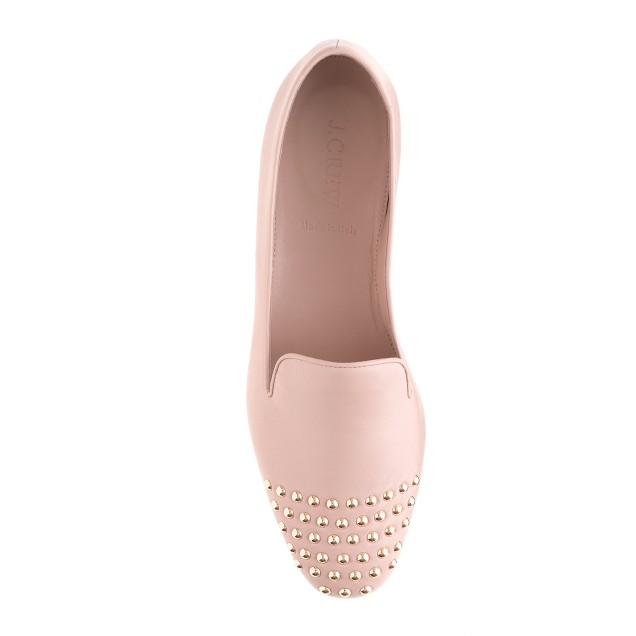Darby studded cap toe loafers