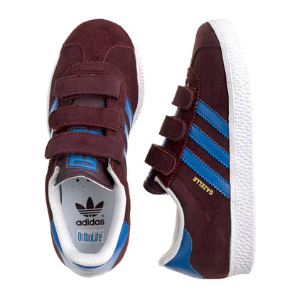 Kids' junior Adidas® gazelle sneakers in burgundy