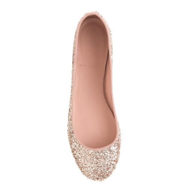 Nora glitter ballet flats