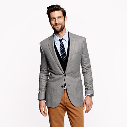 Ludlow club sportcoat in Italian wool flannel