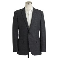 Ludlow sportcoat with double vent in glen plaid English wool
