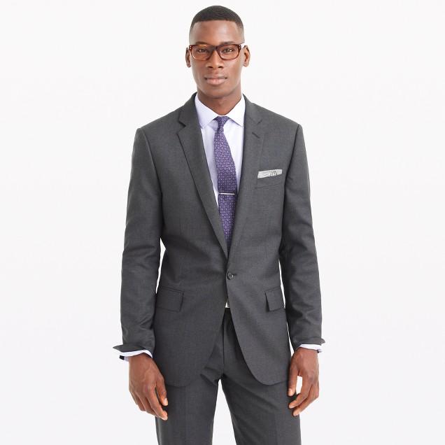 Ludlow single-button suit jacket in Italian wool