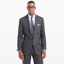 Ludlow single-button suit jacket in Italian wool