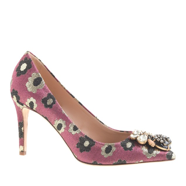 Everly jeweled printed pumps