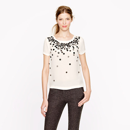 Collection leather-flowers tee