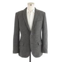 Ludlow sportcoat with double vent in herringbone Italian wool