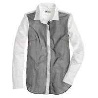 Collection Thomas Mason® for J.Crew chiffon-trim shirt