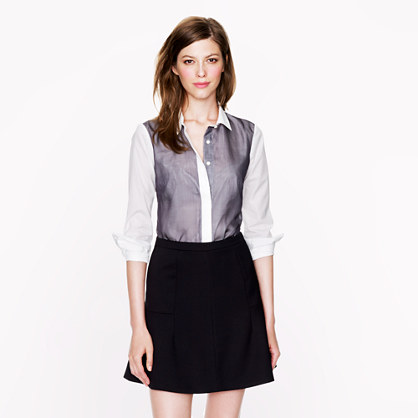 Collection Thomas Mason® for J.Crew chiffon-trim shirt