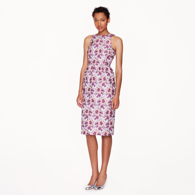 Collection floral brocade dress