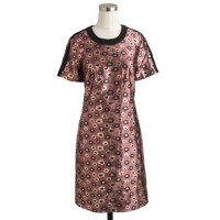 Collection metallic marigold print dress