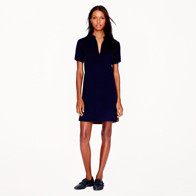 Collection double-faced wool dress