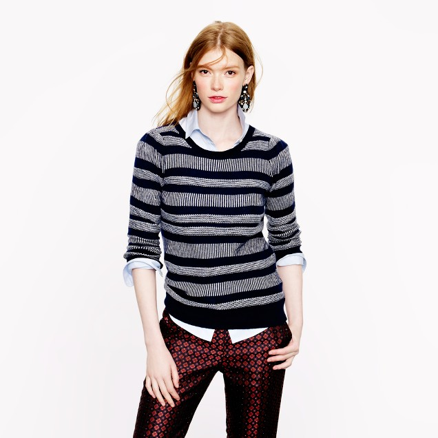 Collection cashmere mixed-stripe sweater