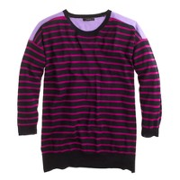Merino colorblock stripe sweater