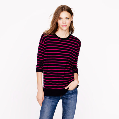 Merino colorblock stripe sweater