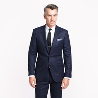 Ludlow suit jacket with center vent in Italian wool flannel
