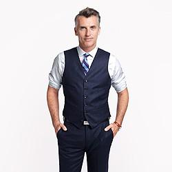 Ludlow suit vest in heathered Italian wool flannel