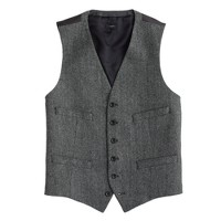 Ludlow vest in herringbone Italian wool