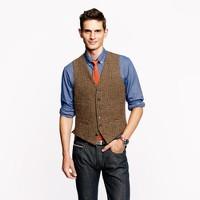 Ludlow vest in glen plaid English wool